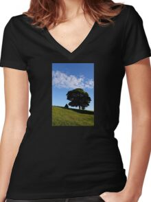 Deciduous Delight Women's Fitted V-Neck T-Shirt