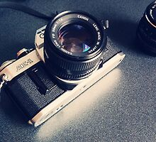 Vintage Camera with Lens by sale