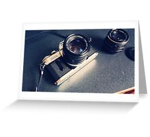 Vintage Camera with Lens Greeting Card