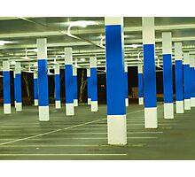blue poles # 2 Photographic Print