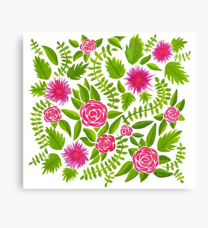 Watercolor flowers no. 1 Canvas Print