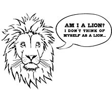 Am I a Lion? Photographic Print