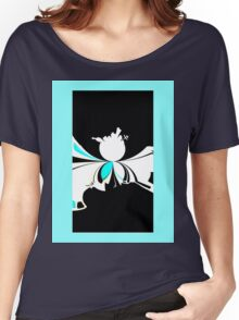 Microcosm abstract sci-fi black white blue landscape night Women's Relaxed Fit T-Shirt