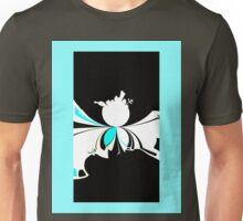 Microcosm abstract sci-fi black white blue landscape night Unisex T-Shirt