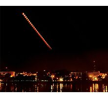 Lunar eclipse over St Charles, MO 2014 Photographic Print