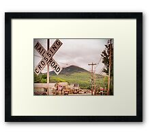 Use Caution When Crossing Framed Print