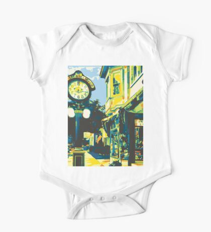 Armbruster Clock & Storefront - Cedarburg WI (bold) One Piece - Short Sleeve