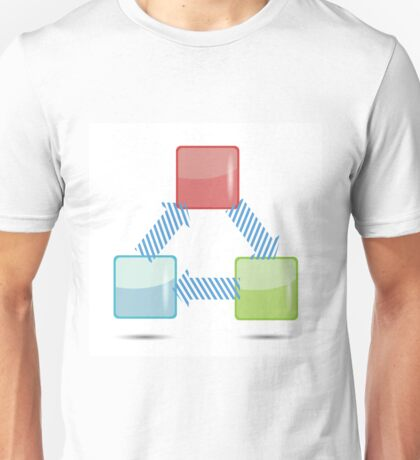 info graphic design Unisex T-Shirt