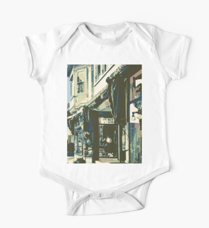 Armbruster Clock & Storefront - Cedarburg WI (muted) One Piece - Short Sleeve