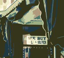 Armbruster Clock & Storefront - Cedarburg WI (muted) Sticker