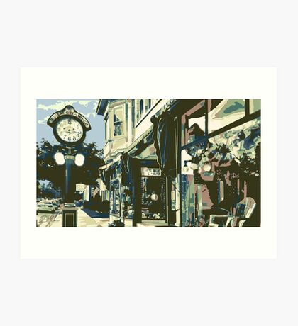 Armbruster Clock & Storefront - Cedarburg WI (muted) Art Print