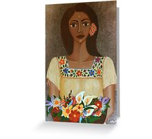 More than flowers she sells illusions Greeting Card