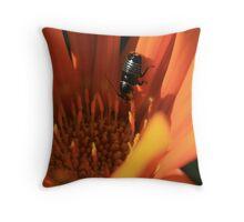 Flower Bug Throw Pillow