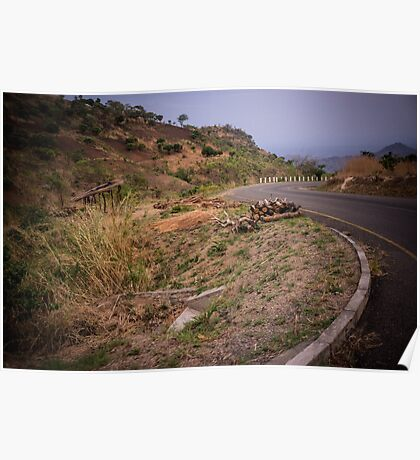 Malawian highway Poster