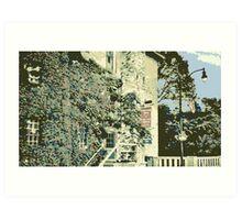 Cedar Creek Settlement / Bridge - Cedarburg WI (muted) Art Print