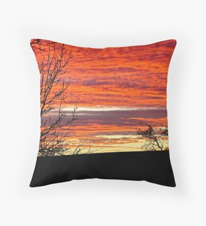 Sunset in Central Scotland Throw Pillow