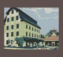 Woolen Mill & Pagoda - Cedarburg WI (muted) Kids Clothes