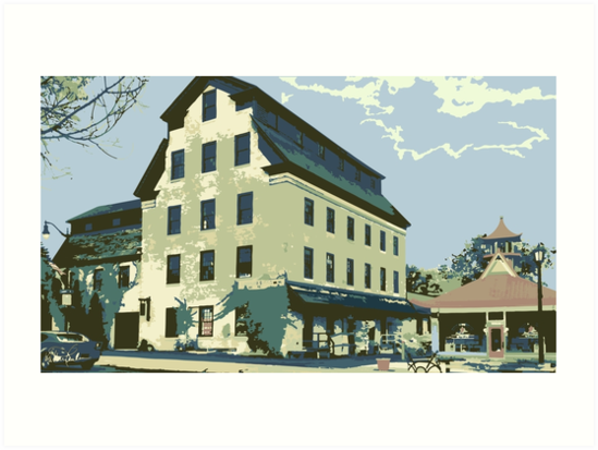 Woolen Mill & Pagoda - Cedarburg WI (muted) by katherinepaulin