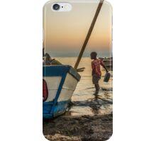 Morning Chores at Lake Malawi iPhone Case/Skin