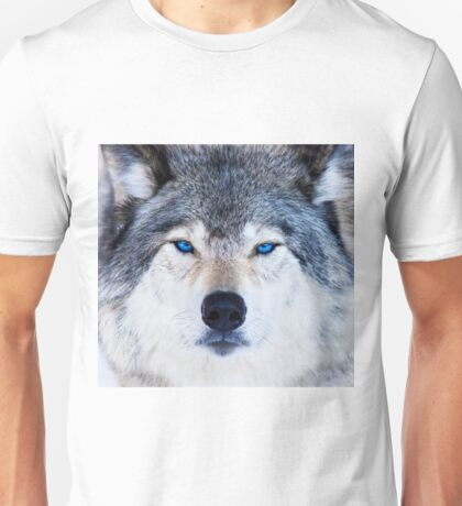 Blue Eyed Wolf  Unisex T-Shirt