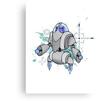 Halftone Robot Canvas Print