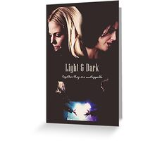"Once Upon a Time - Swan Queen ""Light & Dark"" Greeting Card"