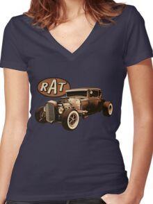 RAT - Black Rat Women's Fitted V-Neck T-Shirt