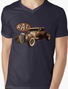 RAT - Black Rat Mens V-Neck T-Shirt