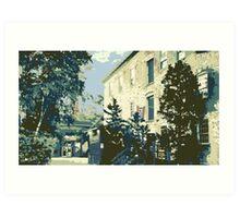 Cedar Creek Settlement & Anvil Pub - Cedarburg WI (muted) Art Print
