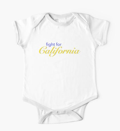 Fight for California - blue and gold One Piece - Short Sleeve