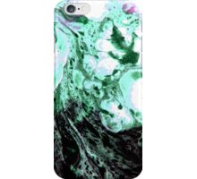 Cellular Abstract Painting Green Black iPhone Case/Skin