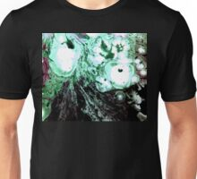 Cellular Abstract Painting Green Black Unisex T-Shirt