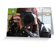 Reverse Photography Greeting Card