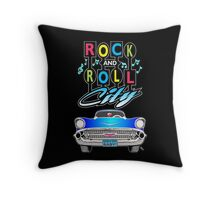 Rock and Roll City Throw Pillow