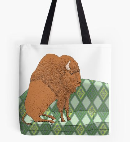 Buffalo on Couch nap time Tote Bag