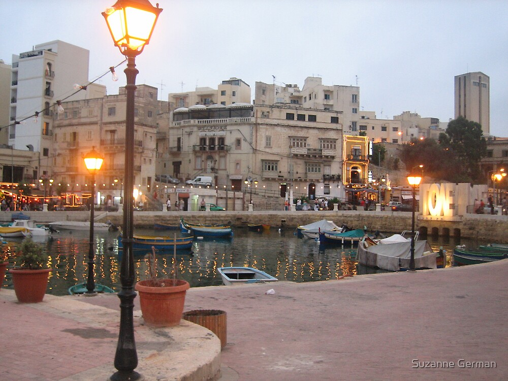 Spinola Bay, St Julian;s - Malta. by Suzanne German
