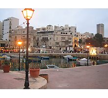Spinola Bay, St Julian;s - Malta. Photographic Print
