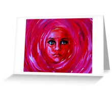 """A Person of a Painting...............""""Rose 2""""  Greeting Card"""