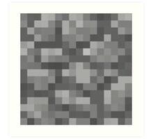 Minecraft Cobstones Block Art Print