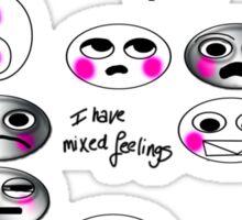 I have mixed Feelings Sticker
