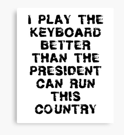 Funny Keyboard T Shirt Canvas Print
