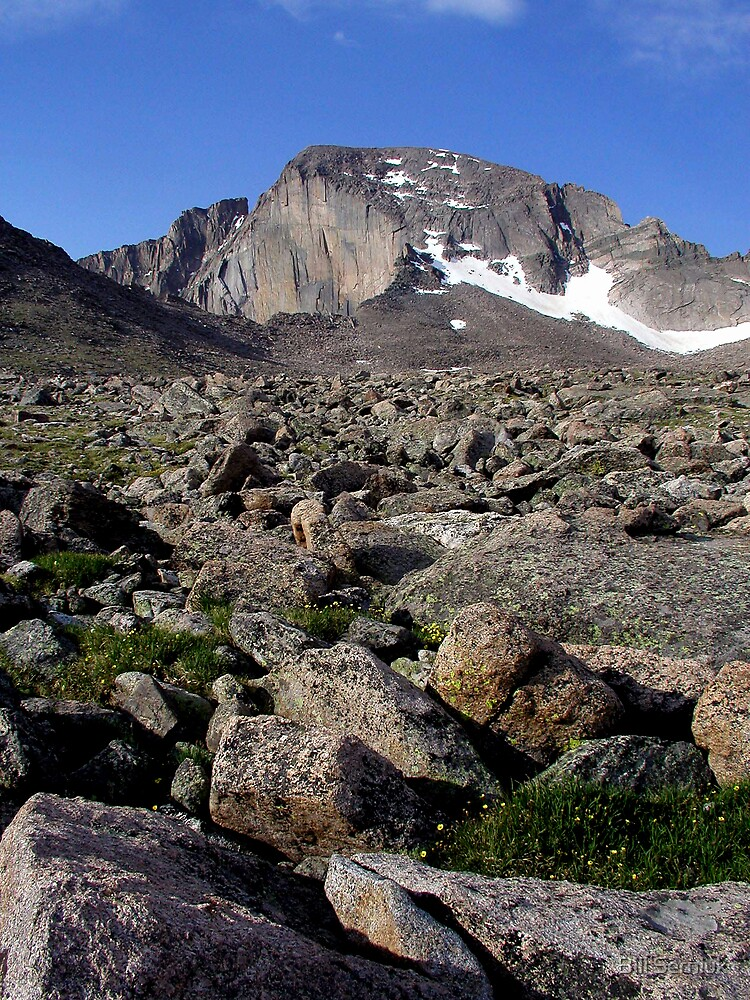 Boulderfield and Longs Peak by Bill Serniuk