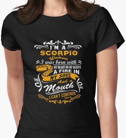 I'm a Scorpio woman T-shirt Womens Fitted T-Shirt