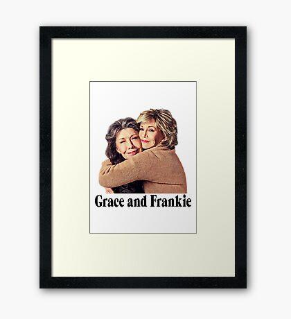 Grace and Frankie Hug 2 Framed Print