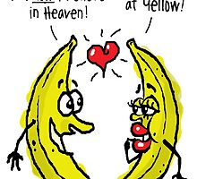 Atheist bananas going bananas! (Valentine's Day?) by atheistcards