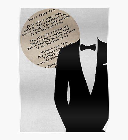 Retro Music - Frank Sinatra Paper Moon Poster