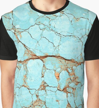Rusty Cracked Turquoise Graphic T-Shirt