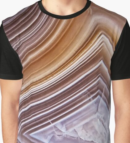 Chocolate Ribbons Agate Graphic T-Shirt