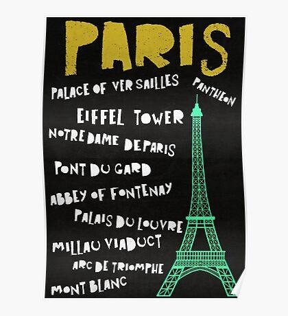 Chalk Travel Poster - Paris Poster
