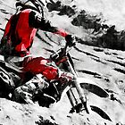 Owning The Mountain  -  Motocross Racer by NaturePrints